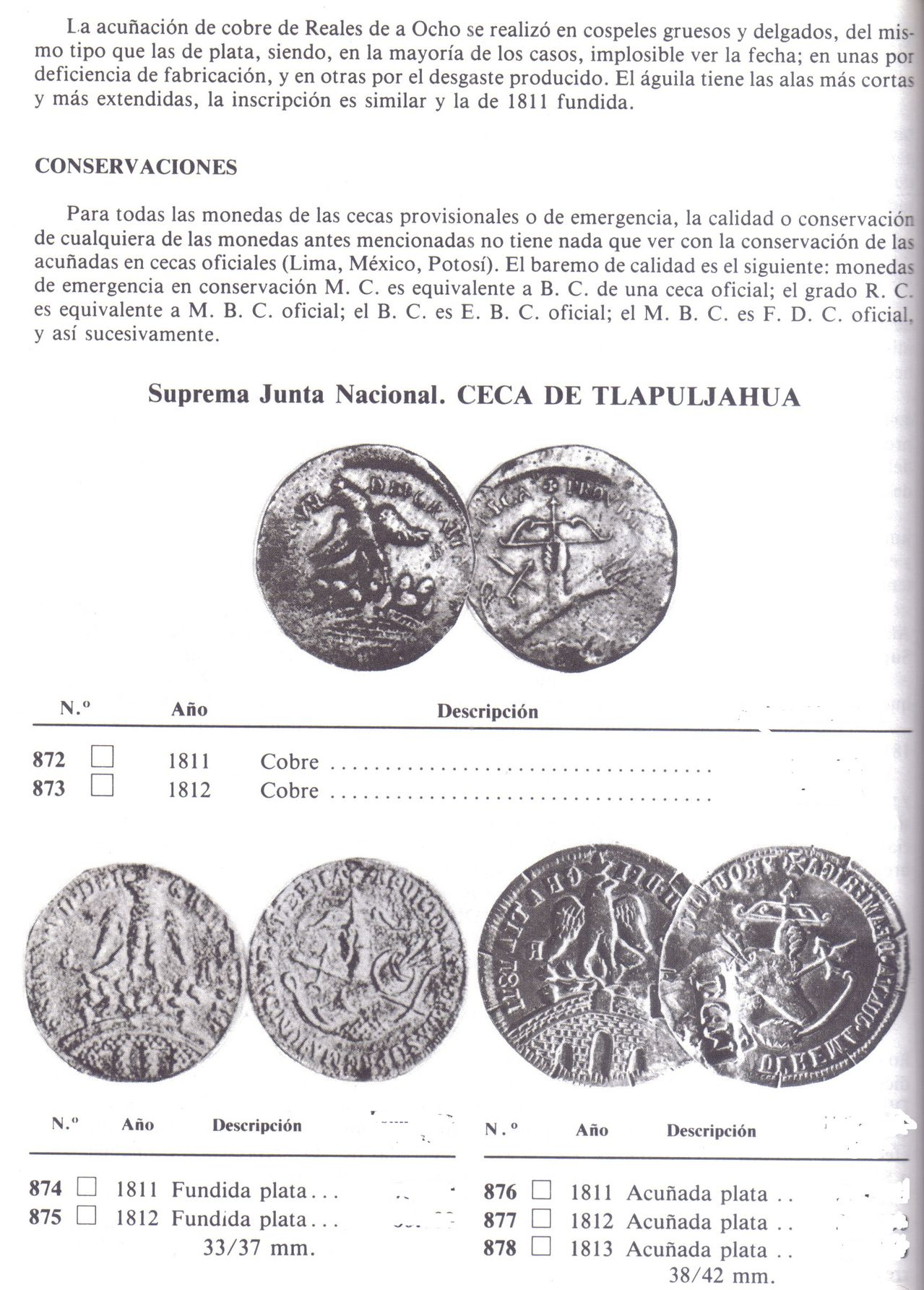8 REALES FERNANDO VII 1811 ( CONGRESO SUPREMO NACIONAL )TLALPUJAUA MEX. - Página 2 Tla2