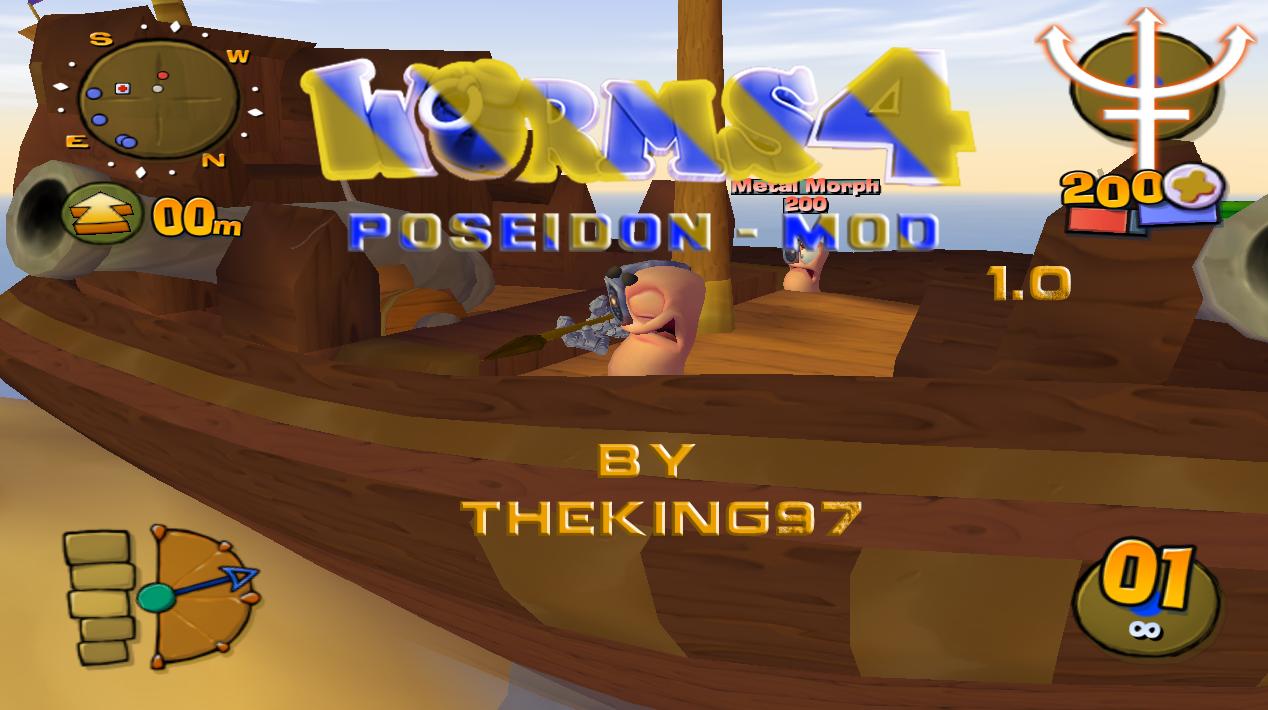 Worms 4 Mayhem Tweaking Mods - Portal Poseidon_Mod_1_0_Cover