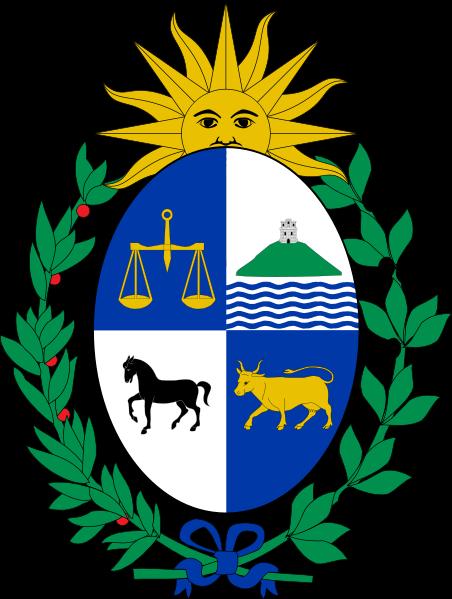 20 céntimos de Uruguay año 1981 452px_Coat_of_arms_of_Uruguay_svg