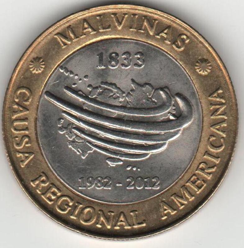 MONEDA DE 2 PESOS CONMEMORATIVA DEL 30 ANIVERSARIO DE LA GUERRA DE LAS MALVINAS REVERSO_MALVINAS