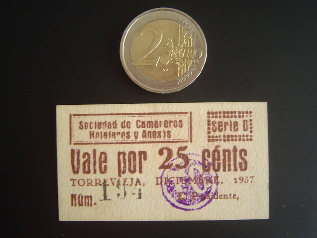 25 Céntimos Torrevieja (Alicante) Diciembre 1937 DSC04366