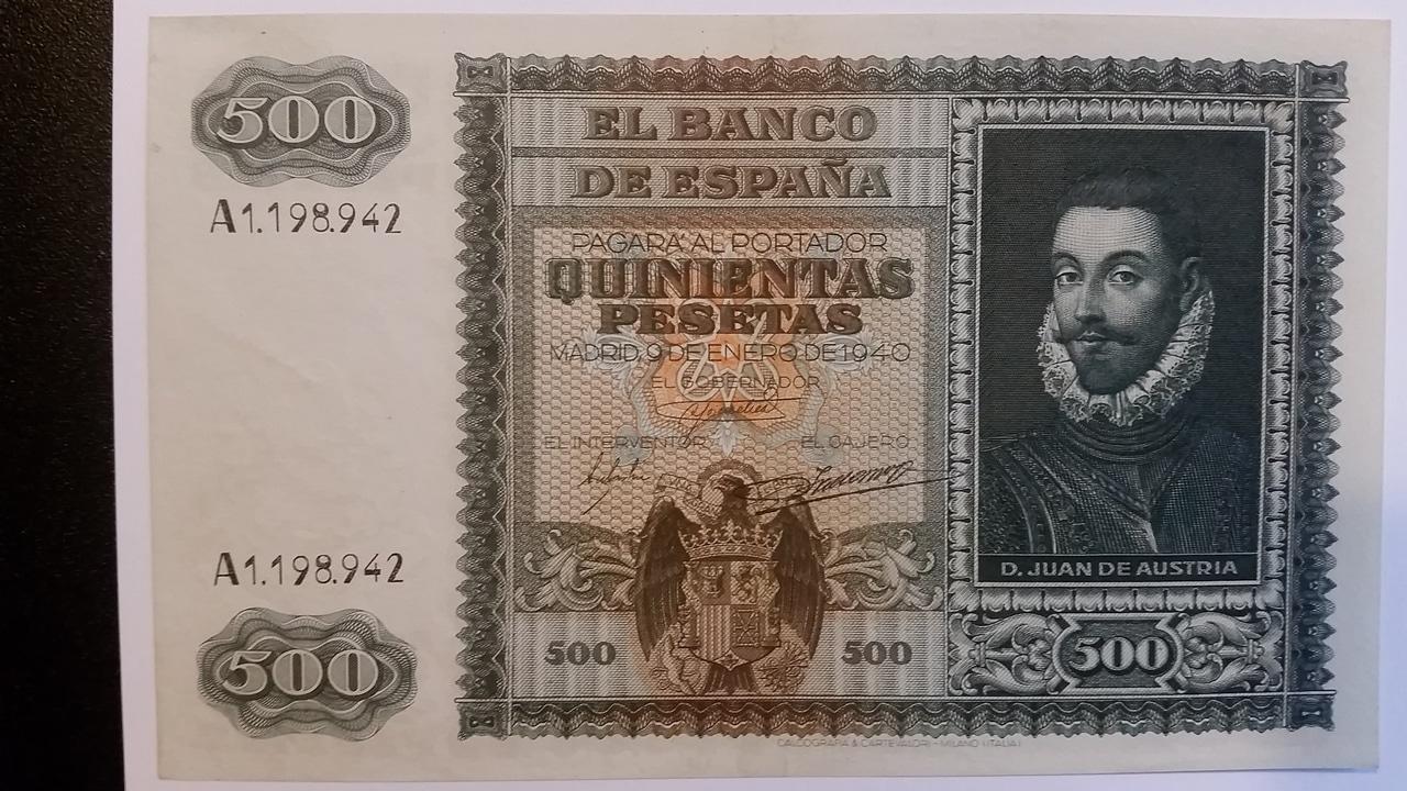 Colección de billetes españoles, sin serie o serie A de Sefcor pendientes de graduar 20161217_123817
