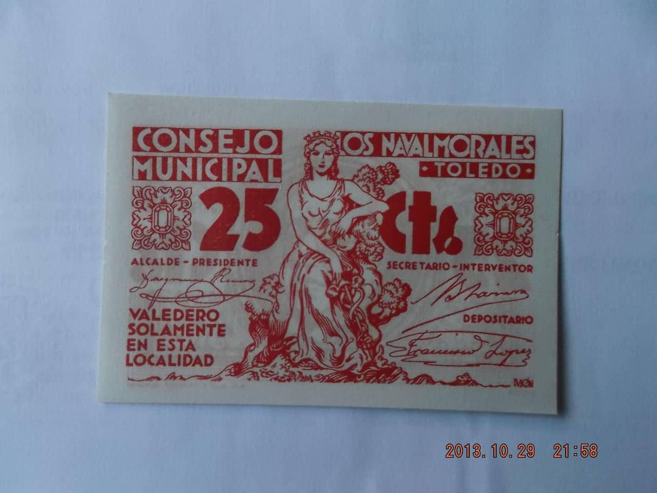 25 Céntimos Los Navalmorales, 1937 DSCF1133