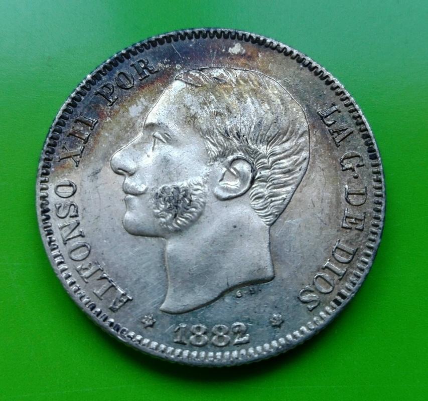 2 pesetas 1882. Alfonso XII IMG_20161208_153233