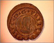 8 maravedis 1663. Felipe IV. Coruña. 243aa