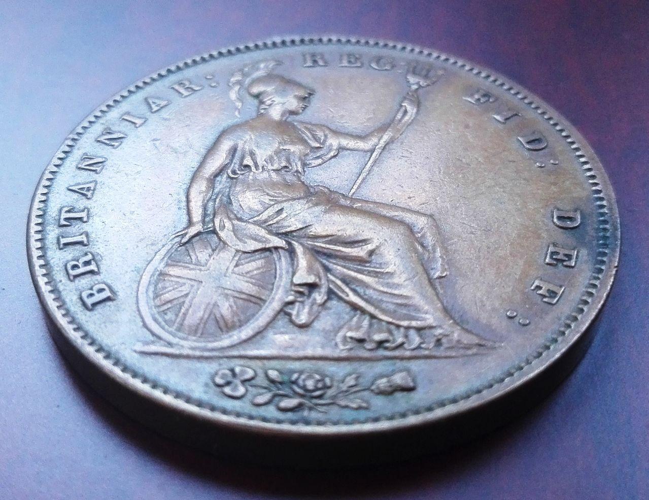 1 penique 1858, Gran Bretaña. Reina Victoria 1_penique_1858_rev_2
