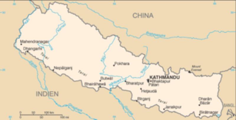 1 Peseta 1996 Juan carlos I- LA PESETILLA o LENTEJA Map_of_Nepal