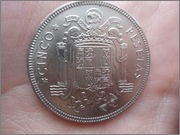 5 pesetas 1949*50 Estado español DSC04444
