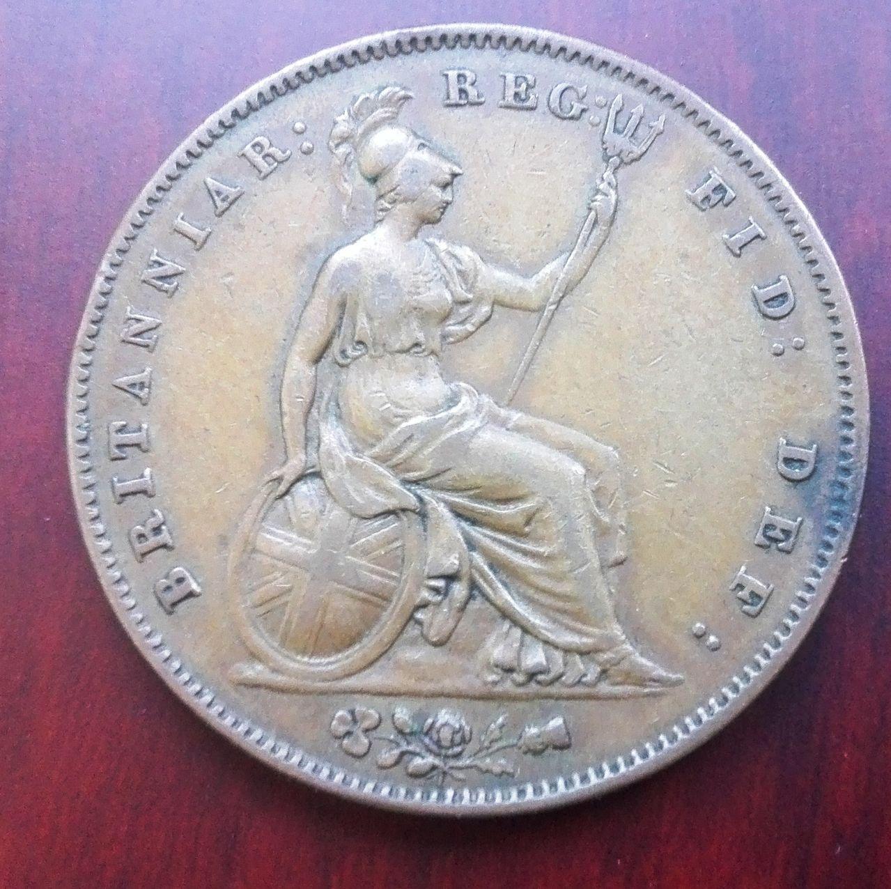 1 penique 1858, Gran Bretaña. Reina Victoria 1_penique_1858_rev