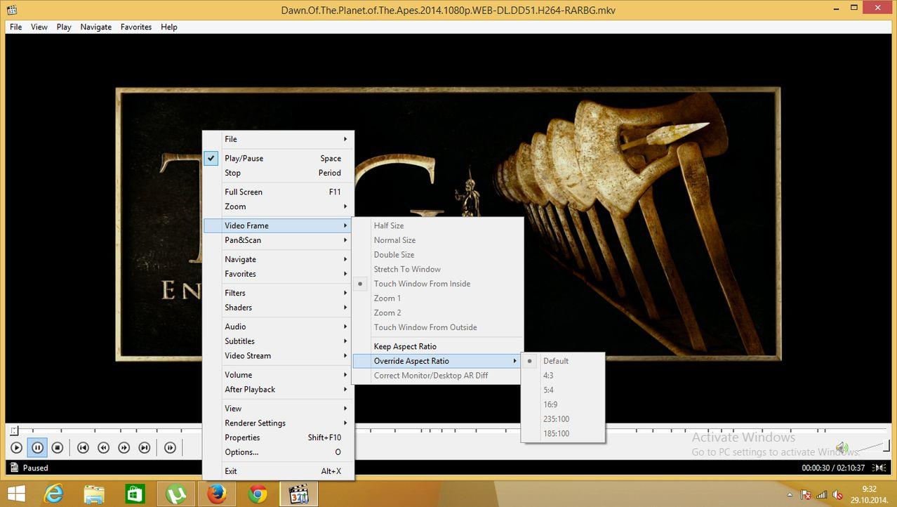 Klite from Ninite VideoFrame menu grayed out Image