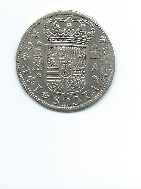 2 reales de Luis I año 1724 Image