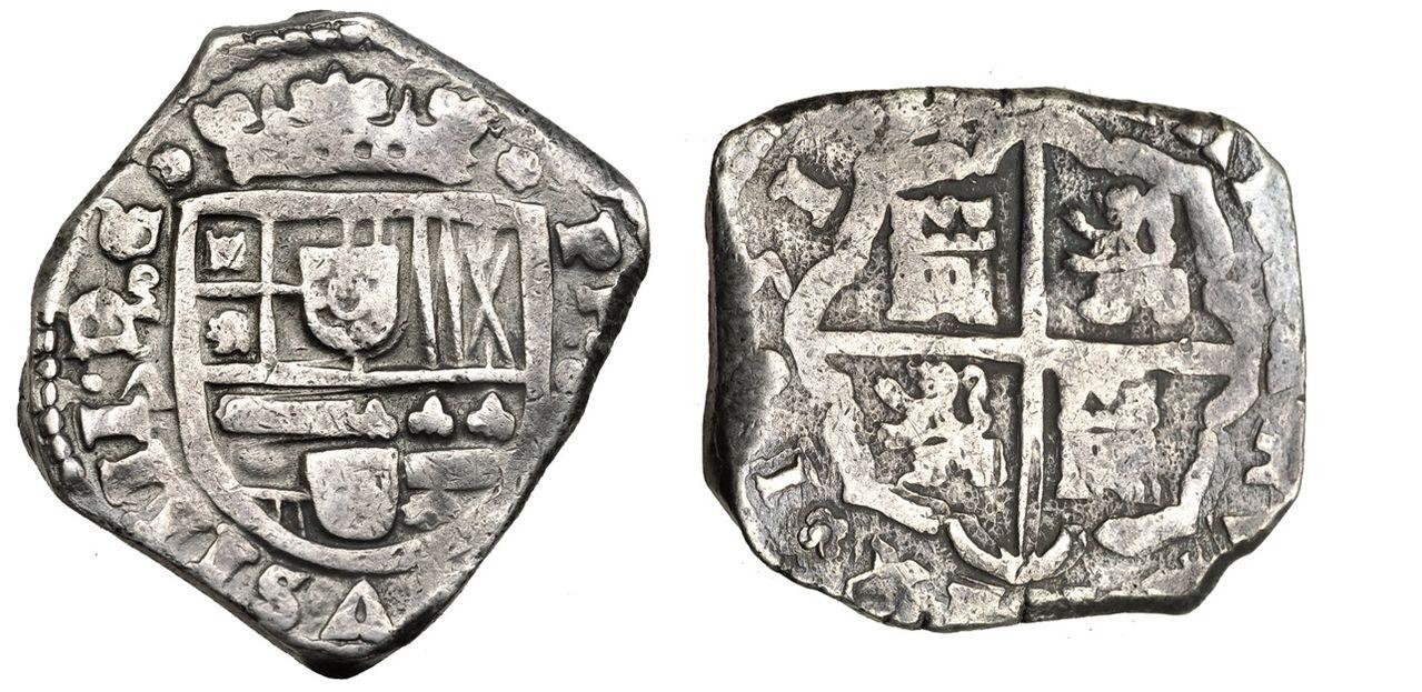 4 reales macuquinos Felipe (?) ceca (?) 8_Reales_1651