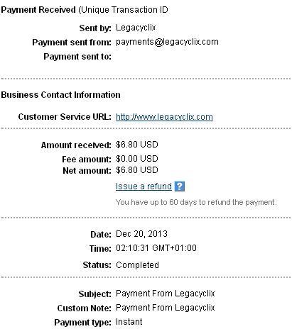 Legacyclix - legacyclix.com Legacyclixpayment