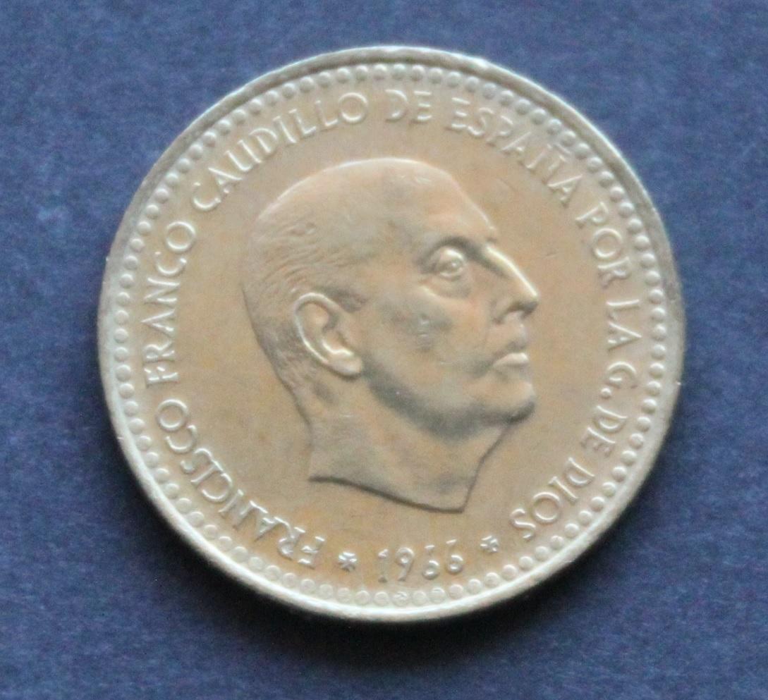 1 peseta 1966 *72 Anverso