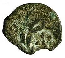 Prutah de Herodes Arquelao ceca de Jerusalén 4 a. C. - 6 d. C. Rev2