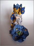 Скрапбукинг. Голубой мак, карандашница или декорваза для сухоцветов. 1_DSCF1982