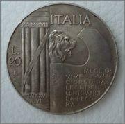 20 Lire. Italia. 1928. Roma Image