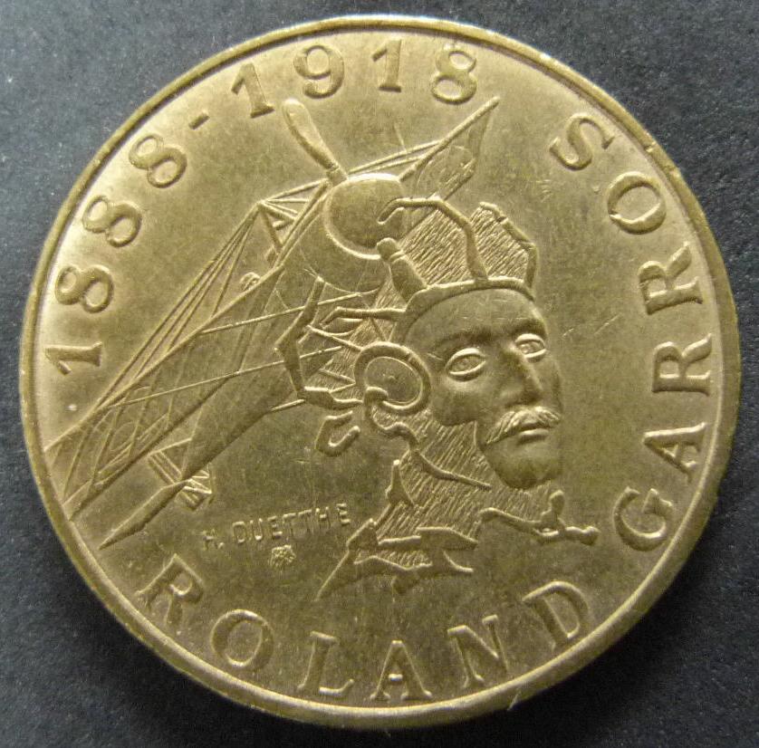 10 Francos. Francia (1988) Roland Garros FRA_10_Francos_Roland_Garros_rev