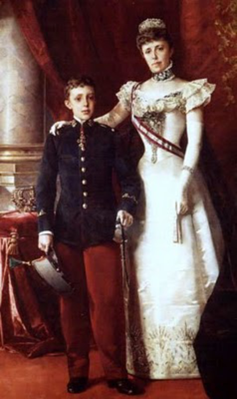 10 Centimos 1878 Alfonso XII MARIA_CRISTINA_Y_SU_HIJO_ALFONSO_XIII