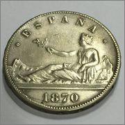 5 Pesetas 1870 Image_7