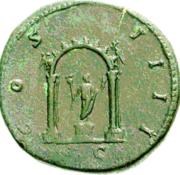 Glosario de monedas romanas. ARCO ROMANO. Image