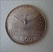 500 LIRE MCMLVIII , SEDE VACANTE , VATICANO  Image