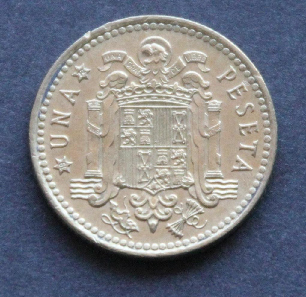 1 peseta 1966 *72 Reverso