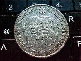 diez pesos 1960 mexico conmemorativa independencia 1810-1910 Image