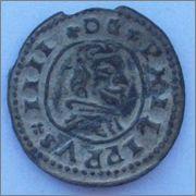 8 maravedis 1663. Felipe IV. Trujillo. 20mm