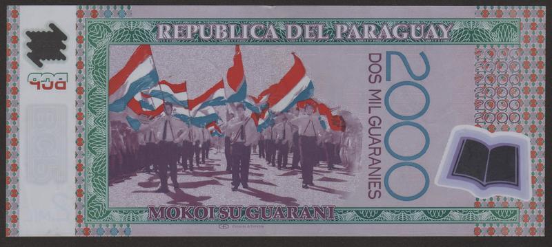 2000 Guaranies Paraguay, 2009 (Polimero) REVERSO_2000_GUARANIES