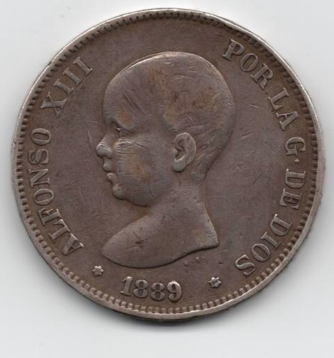 5 pesetas de 1889. Alfonso XIII IMG_3402