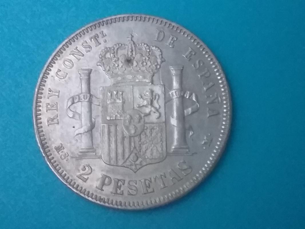 2 pesetas 1881. Alfonso XII 1493580076827-686485169