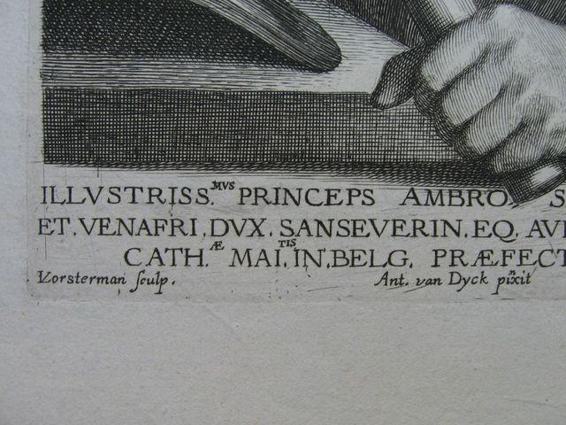 Grabado retrato de Ambrosio Spínola. c.1630. Autor Lucas de Vorsterman. Dedicado a Patricia 2803_9_6_1