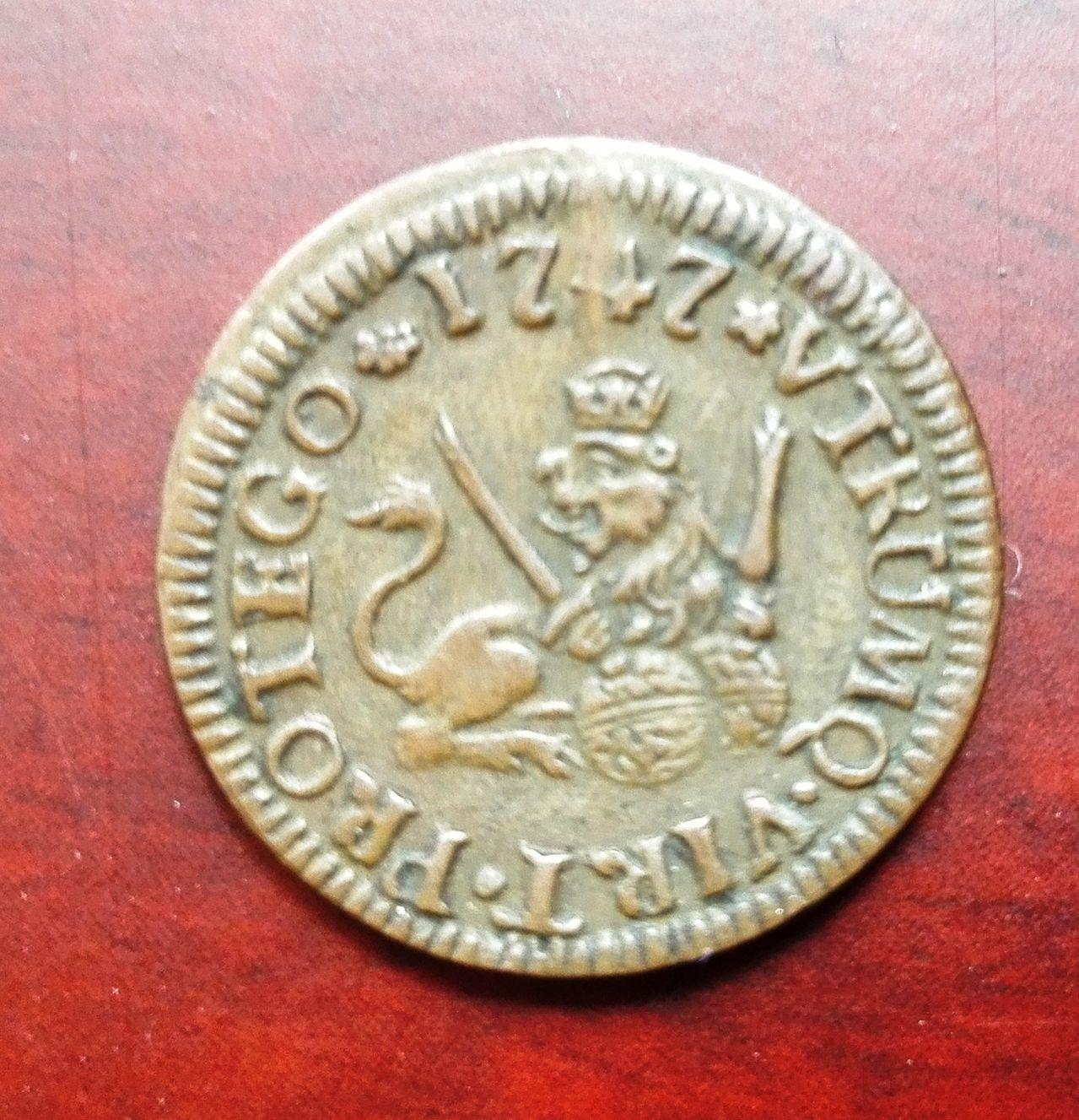 1 maravedí 1747 Segovia, Fernando VI 1_maravedis_1747
