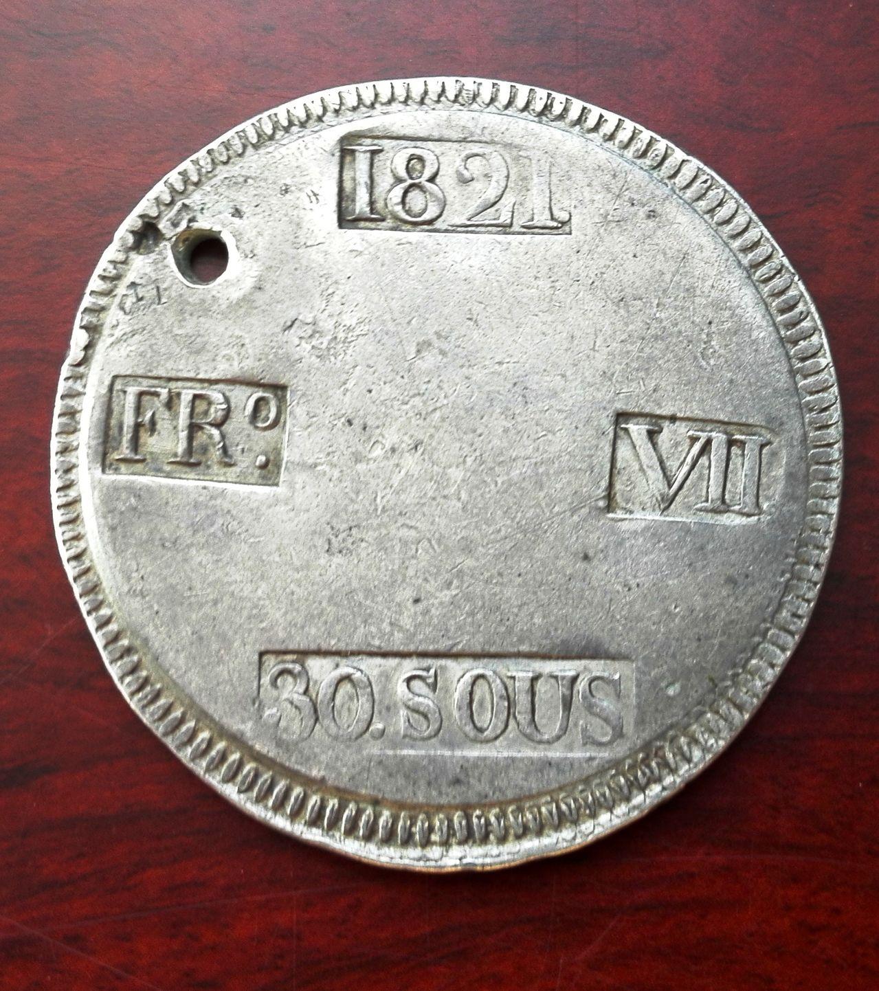 30 sous 1821 Fernando VII Palma de Mallorca 30_sous_1821