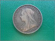 1 corona 1895 Reina Victoria Gran Bretaña. DSCN2539