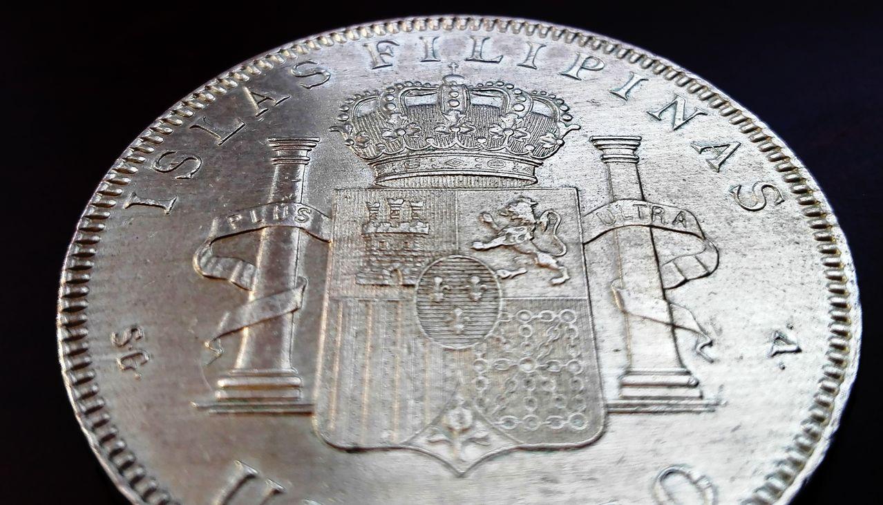 1 peso Filipinas 1897, Alfonso XIII  1_peso_fiolipnas56