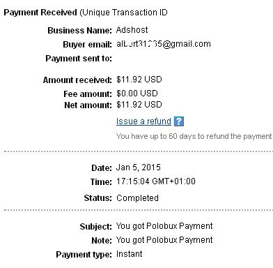 2º Pago de Polobux ( $11,92 ) Polobuxpayment