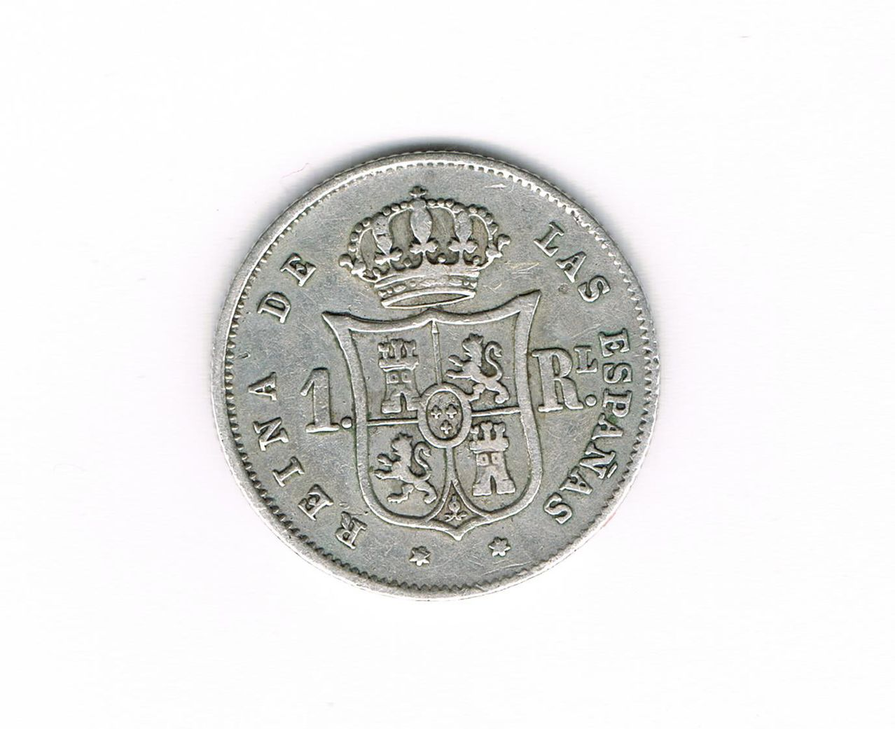 1 Real 1852. Isabel II - Madrid. 1_Real_Plata_Isabel_II_1852_Madrid_B
