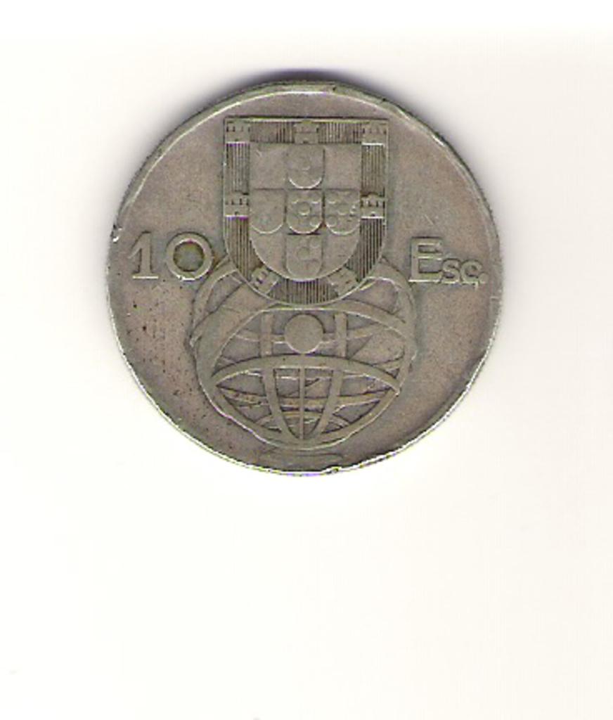 10 escudos de Portugal año 1954 Image
