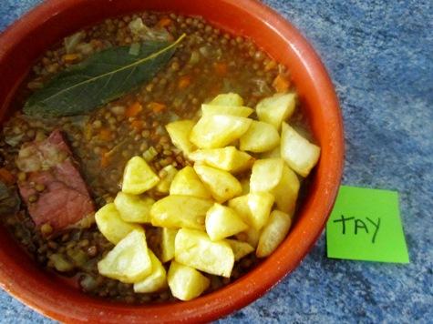 Lentejas al curry Lentetay