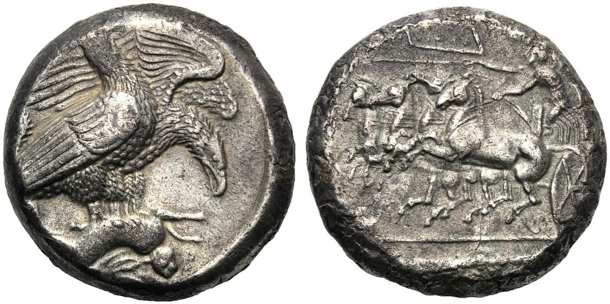 Tetradracma eubeo-ático. Akragas. 409-406 A.C. Magistrado Silanos. Uno de mis sueños al fin cumplido. 11999887