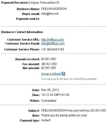 1º Pago de Linx.me ( $3,00 ) Linxpayment