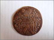 Jetón del tesorero de ceca Jean Heymans. Bruselas. 1684. Levantamiento del Sitio de Viena P1130988