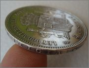 5 pesetas 1871*18-71 SDM  Amadeo I Image