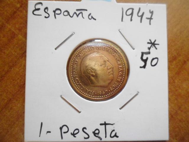 1 peseta 1947 19-50. Estado Español. P1100559