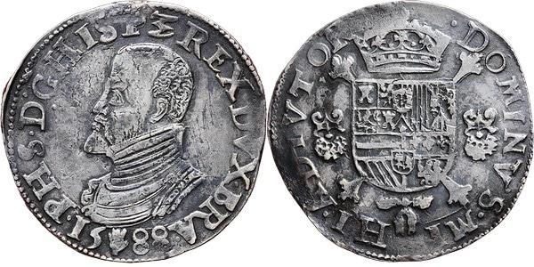Un escudo felipe 1588 Amberes. Felipe II. 2694613l