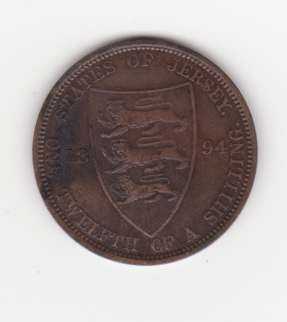 1/12 chelín 1894, Jersey Jersey_victoria_001