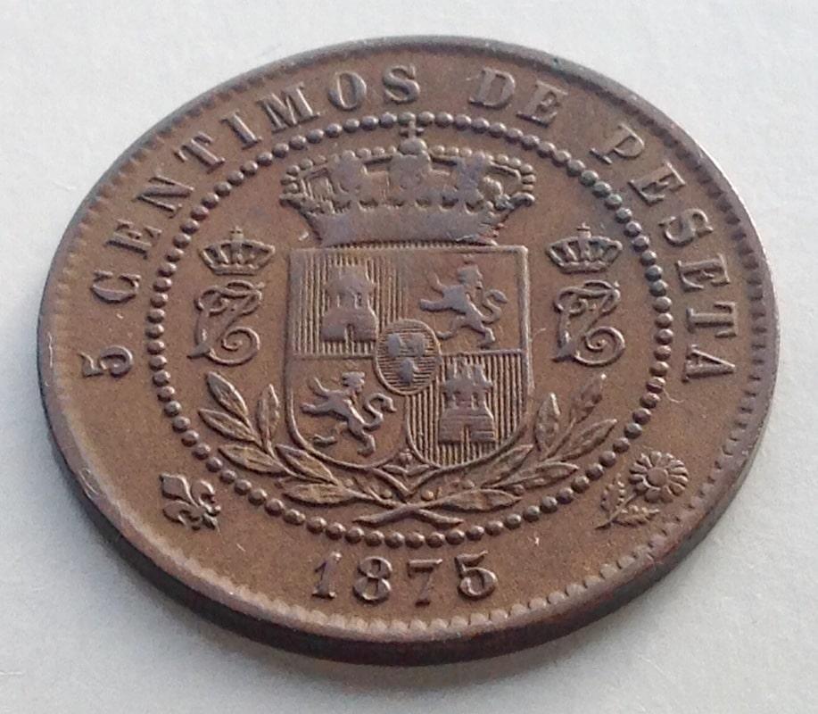 5 céntimos 1875. Carlos VII. Oñate IMG_3423