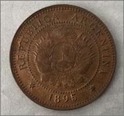 1 centavo 1895 Argentina Image